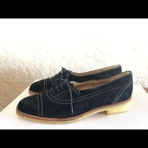 Ferragamo suede black loafers
